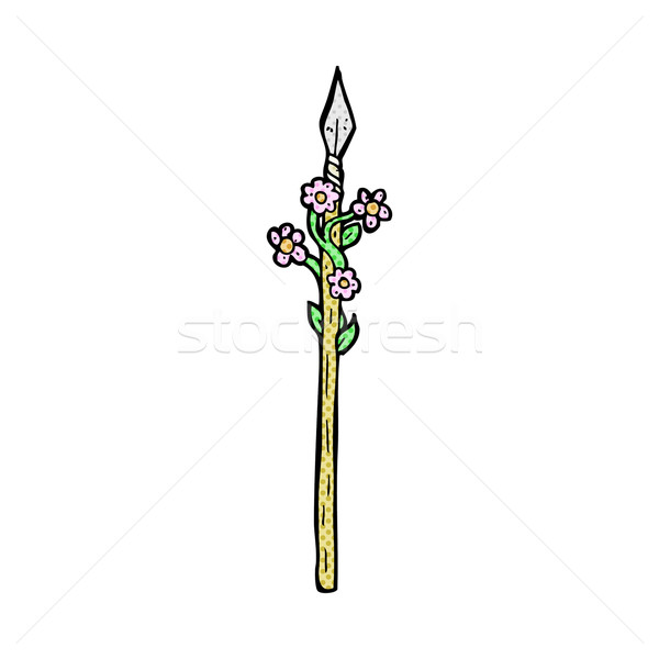 comic cartoon flowering spear Stock photo © lineartestpilot