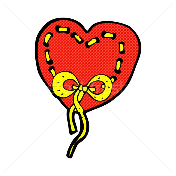 stitched heart comic cartoon Stock photo © lineartestpilot