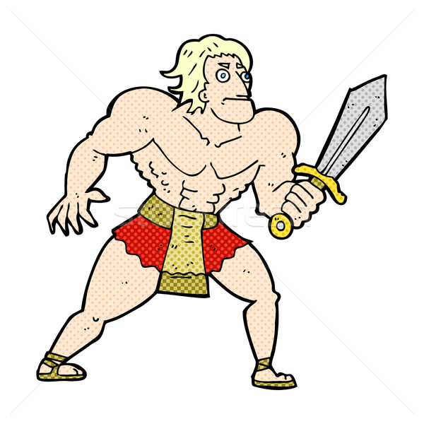 comic cartoon fantasy hero man Stock photo © lineartestpilot