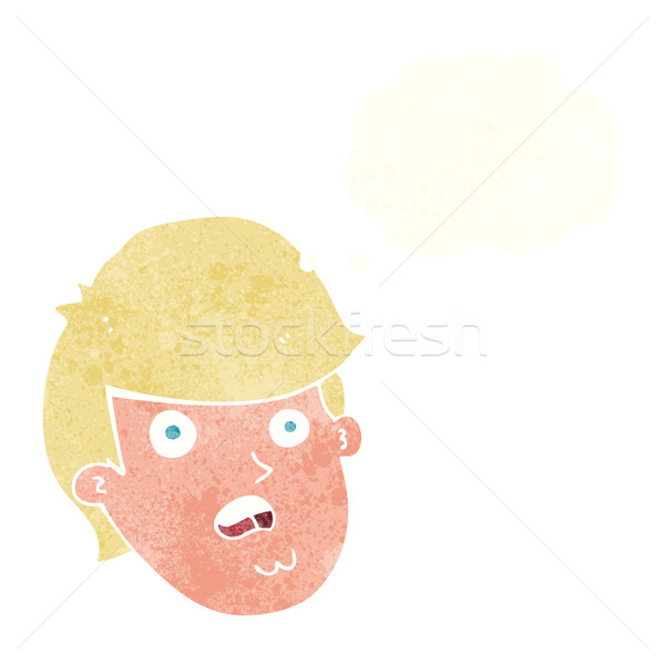 cartoon man with big chin with thought bubble Stock photo © lineartestpilot