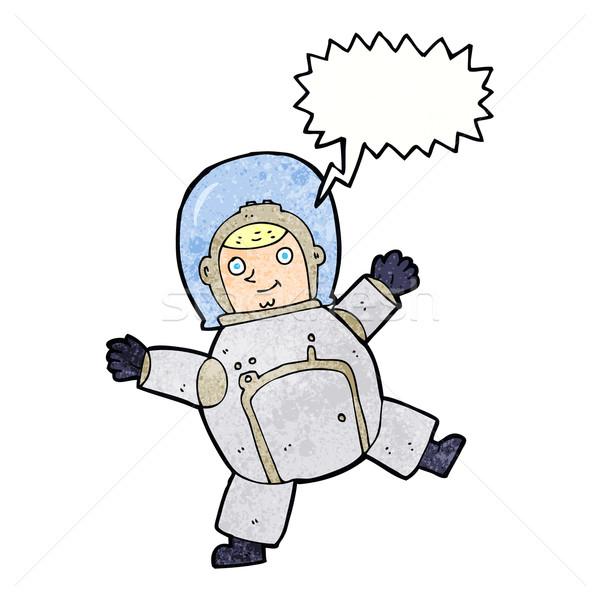 Karikatür astronot konuşma balonu el dizayn uzay Stok fotoğraf © lineartestpilot