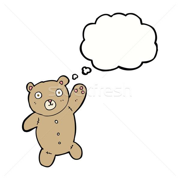 Cartoon cute osito de peluche burbuja de pensamiento mano diseno Foto stock © lineartestpilot