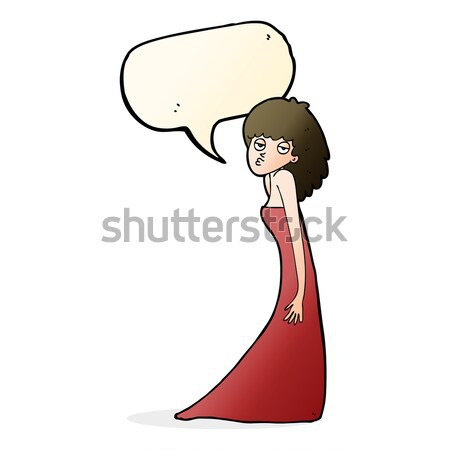 Stock photo: cartoon sorceress  with thought bubble
