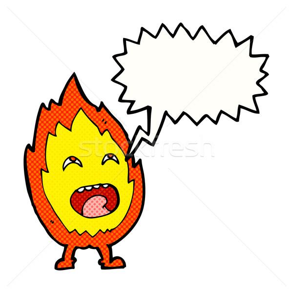 Cartoon fiamma carattere fumetto mano design Foto d'archivio © lineartestpilot