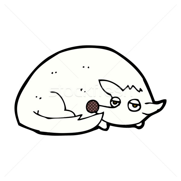 comic cartoon curled up dog Stock photo © lineartestpilot