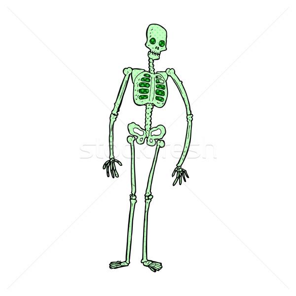comic cartoon spooky skeleton Stock photo © lineartestpilot