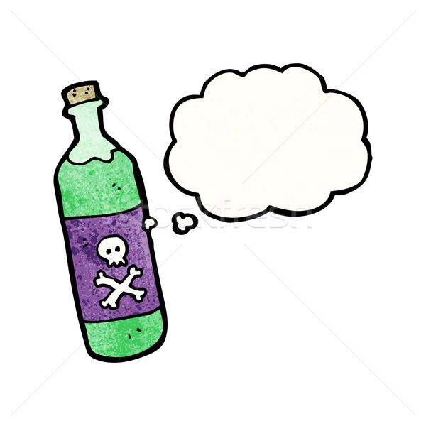Cartoon tóxico textura mano feliz dibujo Foto stock © lineartestpilot