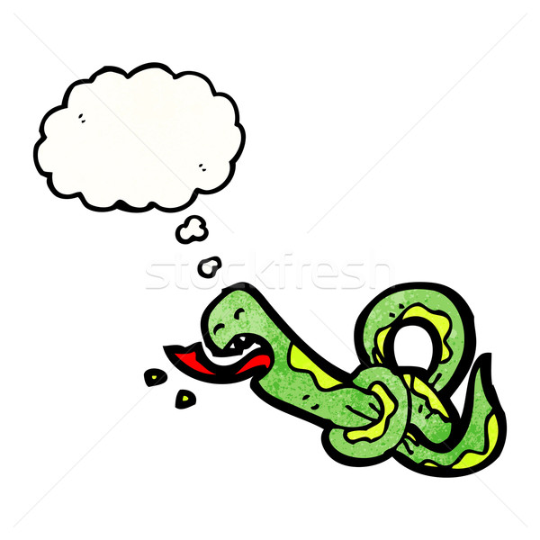 knotted snake cartoon Stock photo © lineartestpilot