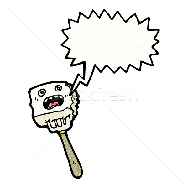 漫画 豆腐 フォーク 話し レトロな 図面 ストックフォト © lineartestpilot