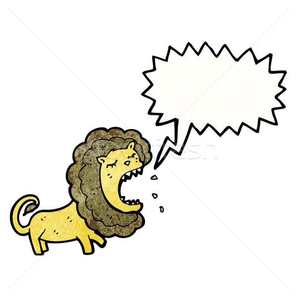 cartoon roaring lion Stock photo © lineartestpilot