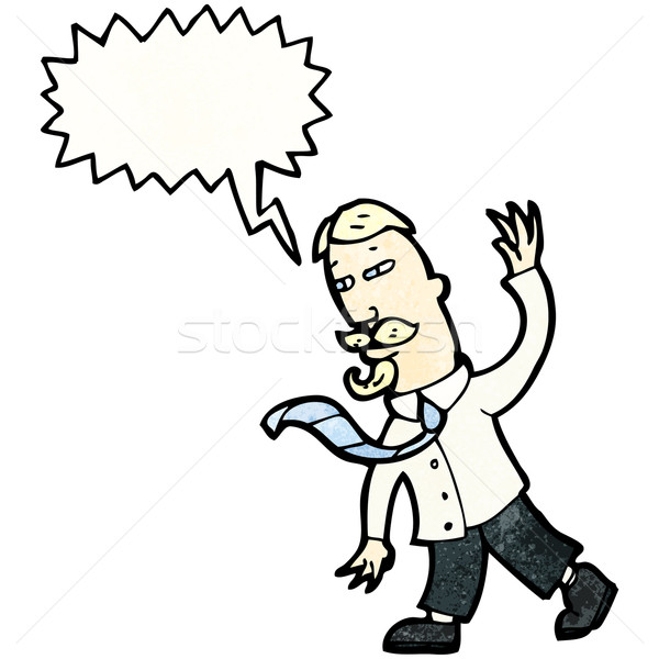 cartoon man gesturing to followers Stock photo © lineartestpilot