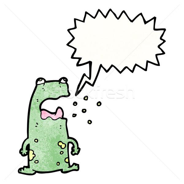 cartoon burping frog Stock photo © lineartestpilot