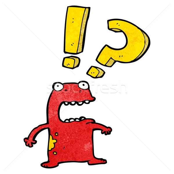 frightened frog cartoon Stock photo © lineartestpilot