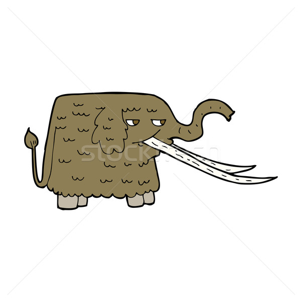 cartoon woolly mammoth Stock photo © lineartestpilot