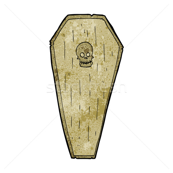 spooky cartoon coffin Stock photo © lineartestpilot