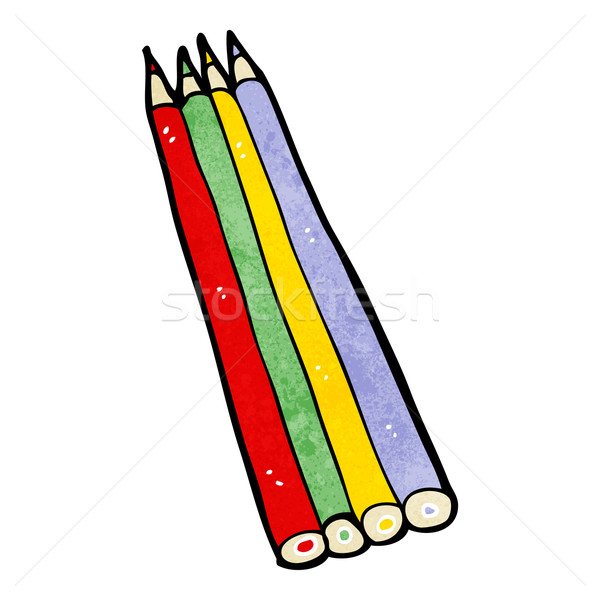 cartoon colored pencils Stock photo © lineartestpilot
