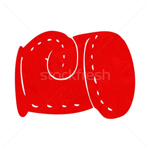 Cartoon боксерская перчатка стороны дизайна Crazy бокса Сток-фото © lineartestpilot