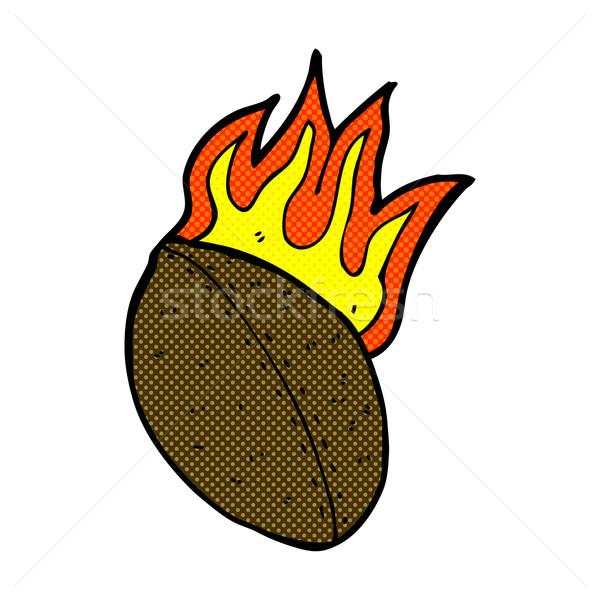 comic cartoon flaming football Stock photo © lineartestpilot