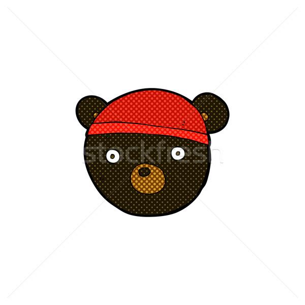 コミック 漫画 黒 クマ カブ 着用 ストックフォト © lineartestpilot