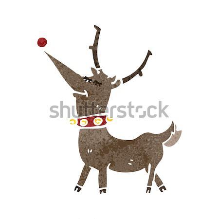 Cartoon cheval transpiration bulle de pensée main design Photo stock © lineartestpilot
