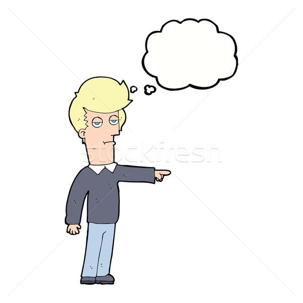 漫画 ポインティング 男 思考バブル 手 デザイン ストックフォト © lineartestpilot