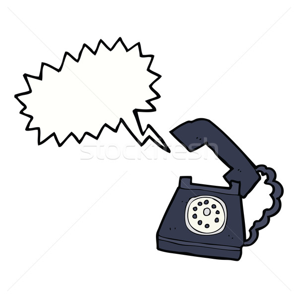 cartoon ringing telephone with speech bubble Stock photo © lineartestpilot