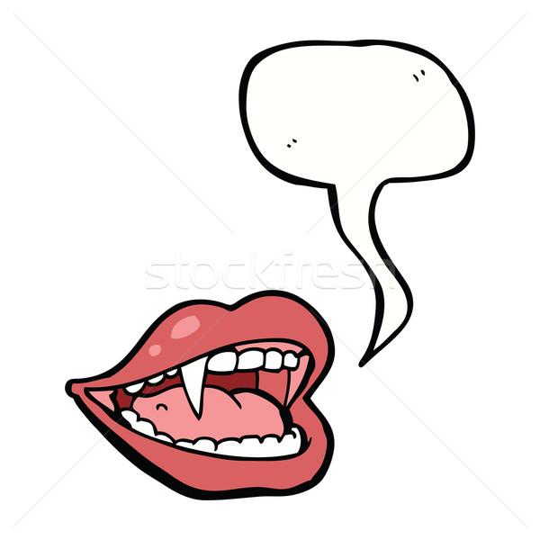 Cartoon wampira usta dymka strony projektu Zdjęcia stock © lineartestpilot