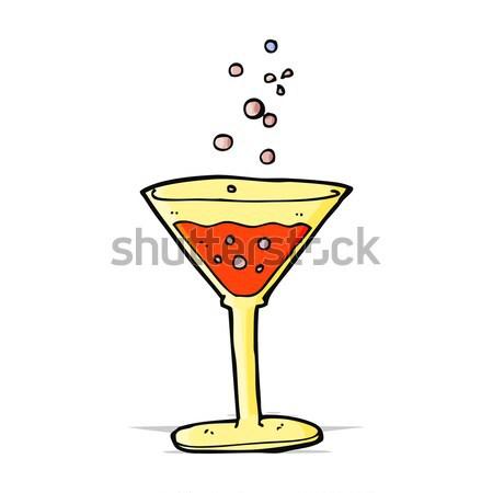 комического Cartoon коктейль ретро стиль Сток-фото © lineartestpilot