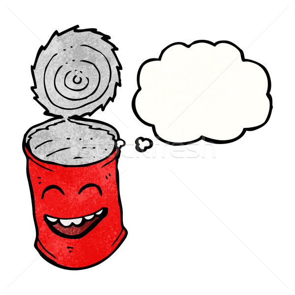 Stock photo: canned food cartoon character