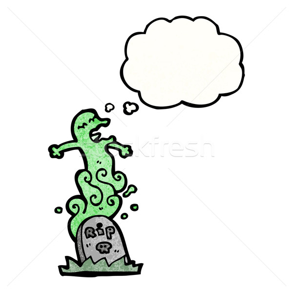 cartoon ghost rising from grave Stock photo © lineartestpilot