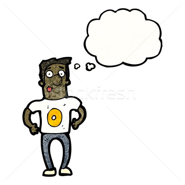 Desenho animado homem número zero camisas equipe Foto stock © lineartestpilot