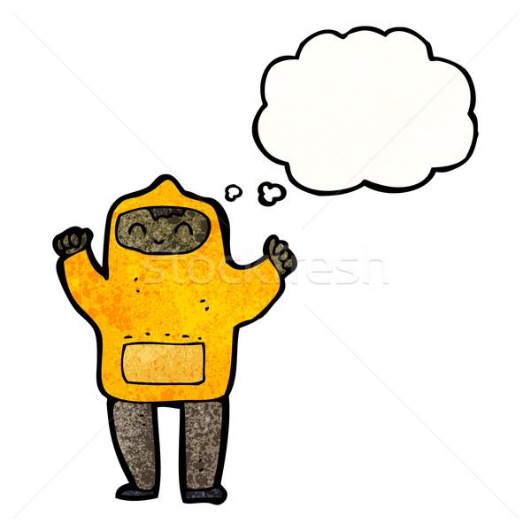 cartoon teenager in hooded top Stock photo © lineartestpilot