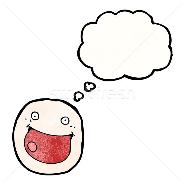 Glückliches Gesicht Symbol Karikatur Gesicht Kunst Zeichen Stock foto © lineartestpilot