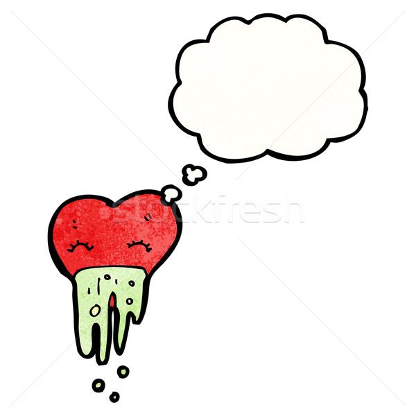 Amor enfermos corazón Cartoon retro textura Foto stock © lineartestpilot