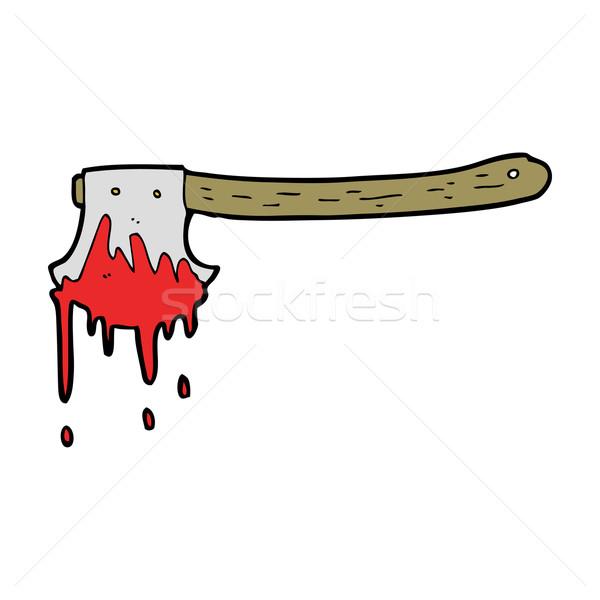 cartoon bloody axe Stock photo © lineartestpilot