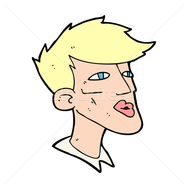 cartoon male model guy Stock photo © lineartestpilot