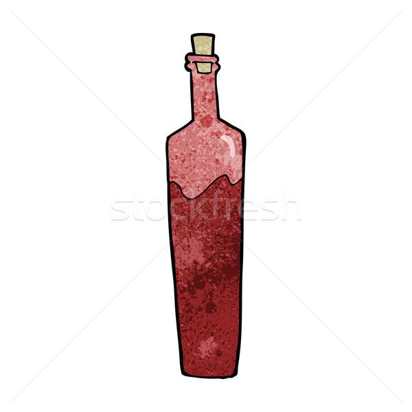 Cartoon chique fles ontwerp kunst retro Stockfoto © lineartestpilot