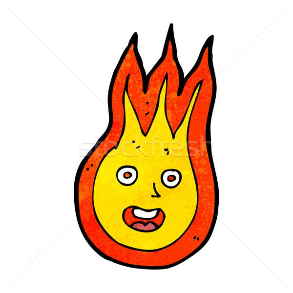 Desenho animado amigável fireball projeto arte retro Foto stock © lineartestpilot