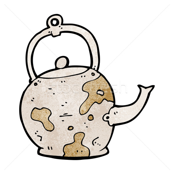 cartoon old tea pot Stock photo © lineartestpilot