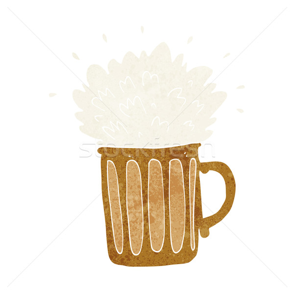cartoon frothy beer Stock photo © lineartestpilot