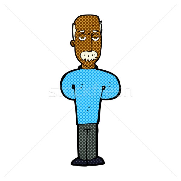 comic cartoon annoyed balding man Stock photo © lineartestpilot