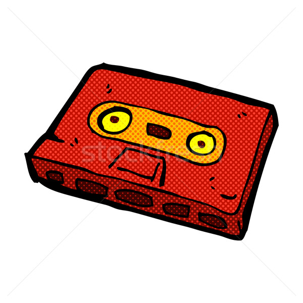 comic cartoon cassette tape Stock photo © lineartestpilot