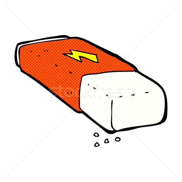 Komische cartoon potlood gum retro Stockfoto © lineartestpilot