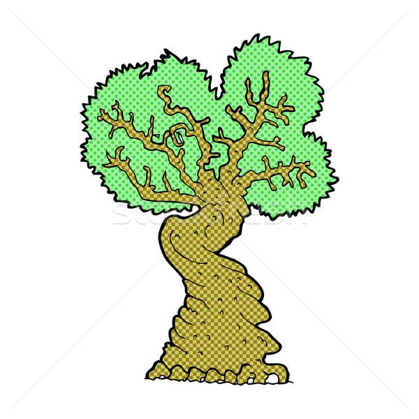 comic cartoon big old tree Stock photo © lineartestpilot