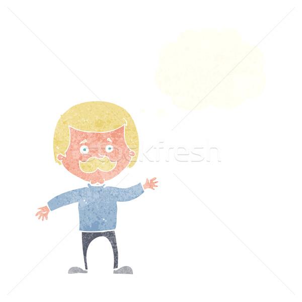 Cartoon papà bolla di pensiero mano uomo Foto d'archivio © lineartestpilot