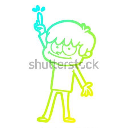 Cartoon vampiro nino burbuja de pensamiento mano hombre Foto stock © lineartestpilot