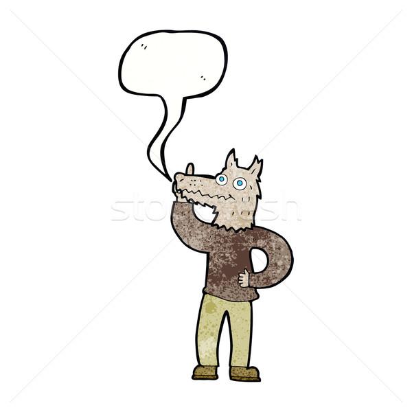 漫画 狼 アイデア 吹き出し 手 デザイン ストックフォト © lineartestpilot