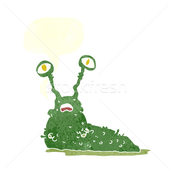 Cartoon naaktslak tekstballon hand ontwerp kunst Stockfoto © lineartestpilot