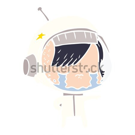 cartoon shocked male face with speech bubble Stock photo © lineartestpilot