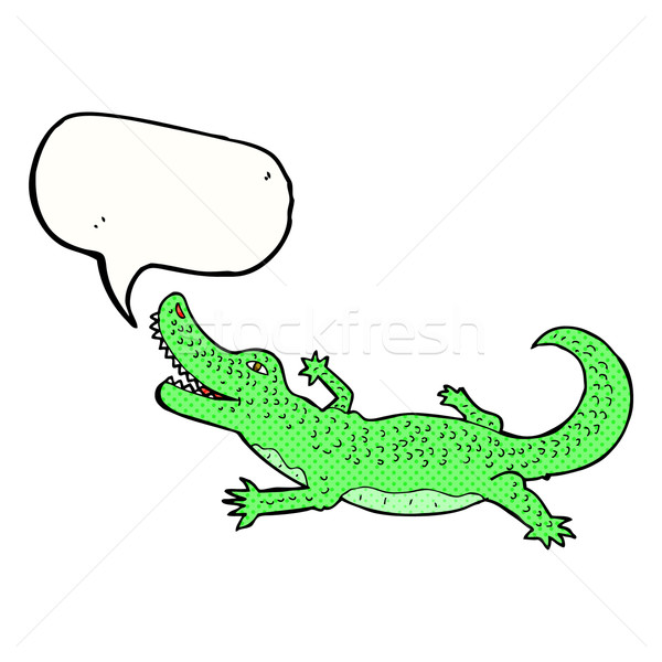 Cartoon crocodile bulle main design art Photo stock © lineartestpilot